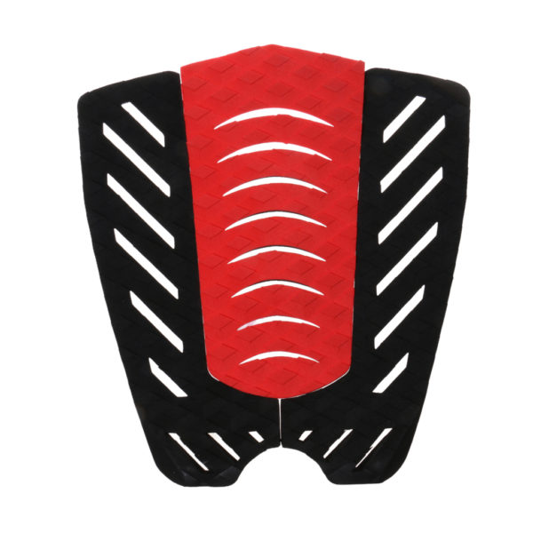 3-Piece-Surfboard-Shortboard-Tail-Pad-Deck-Grip-Traction-Stomp-Mat-Black-Red-Cool-font-b